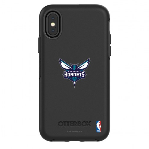 Charlotte Hornets OtterBox iPhone X/Xs Symmetry Black Case