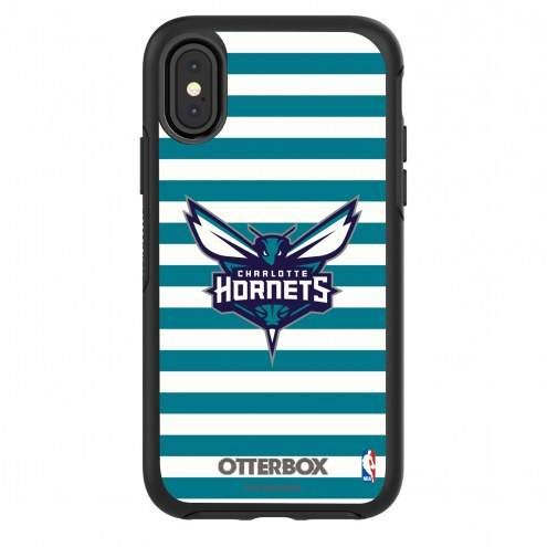 Charlotte Hornets OtterBox iPhone X/Xs Symmetry Stripes Case