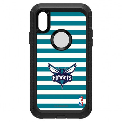 Charlotte Hornets OtterBox iPhone XR Defender Stripes Case