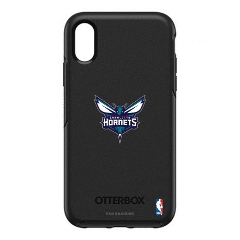 Charlotte Hornets OtterBox iPhone XR Symmetry Black Case