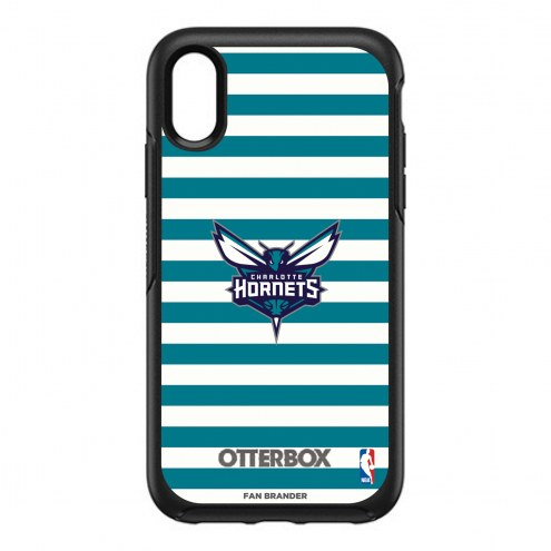 Charlotte Hornets OtterBox iPhone XR Symmetry Stripes Case