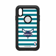 Charlotte Hornets OtterBox iPhone XS Max Defender Stripes Case
