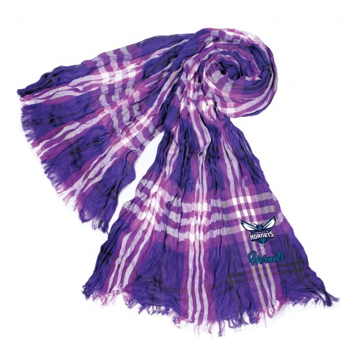 Charlotte Hornets Plaid Crinkle Scarf