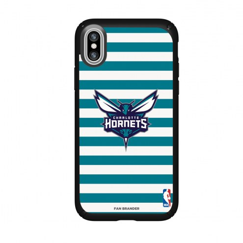 Charlotte Hornets Speck iPhone X Presidio Stripes Case