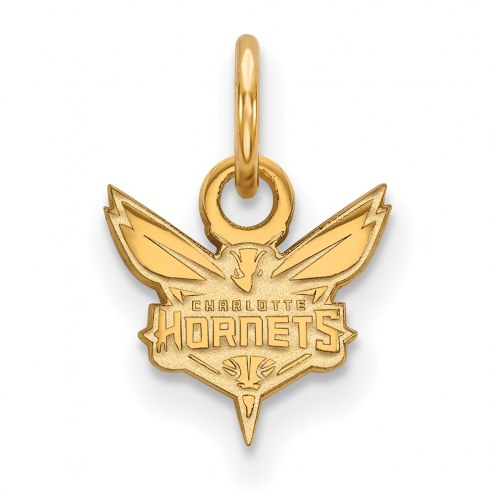 Charlotte Hornets Sterling Silver Gold Plated Extra Small Pendant