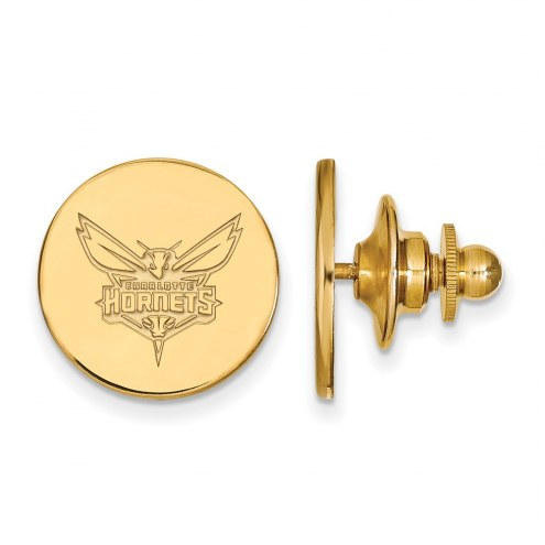 Charlotte Hornets Sterling Silver Gold Plated Lapel Pin