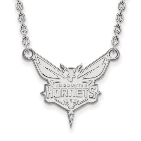 Charlotte Hornets Sterling Silver Large Pendant Necklace