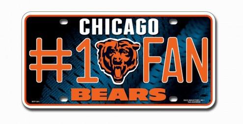 Chicago Bears #1 Fan License Plate