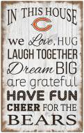 """Chicago Bears 11"""" x 19"""" In This House Sign"""