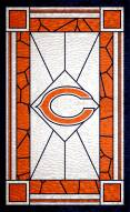 """Chicago Bears 11"""" x 19"""" Stained Glass Sign"""