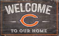 """Chicago Bears 11"""" x 19"""" Welcome to Our Home Sign"""