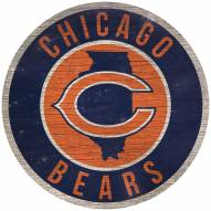 """Chicago Bears 12"""" Circle with State Sign"""