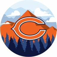 """Chicago Bears 12"""" Landscape Circle Sign"""