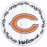 """Chicago Bears 12"""" Welcome Circle Sign"""