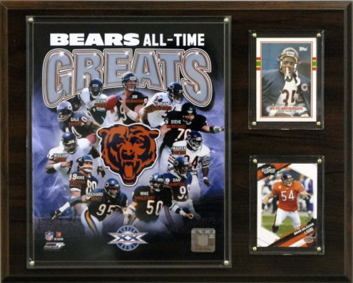 "Chicago Bears 12"" x 15"" All-Time Great Plaque"