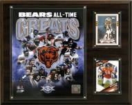 """Chicago Bears 12"""" x 15"""" All-Time Great Plaque"""