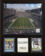 "Chicago Bears 12"" x 15"" Stadium Plaque"