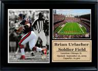 "Chicago Bears 12"" x 18"" Brian Urlacher Photo Stat Frame"