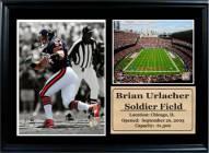 "Chicago Bears 12"" x 18"" Brian Urlacher Photo Stat Frame"