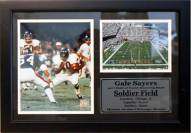 """Chicago Bears 12"""" x 18"""" Gale Sayers Photo Stat Frame"""