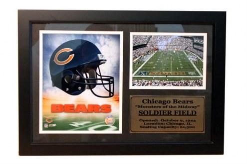 "Chicago Bears 12"" x 18"" Photo Stat Frame"