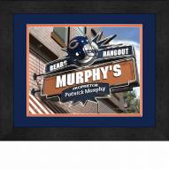Chicago Bears 13 x 16 Personalized Framed Sports Pub Print