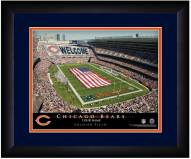 Chicago Bears 13 x 16 Personalized Framed Stadium Print