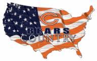 "Chicago Bears 15"" USA Flag Cutout Sign"