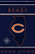 "Chicago Bears 17"" x 26"" Coordinates Sign"