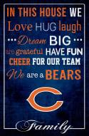 """Chicago Bears 17"""" x 26"""" In This House Sign"""