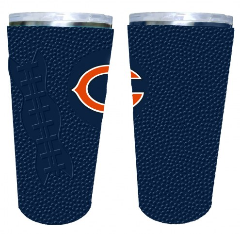 Chicago Bears 20 oz. Stainless Steel Tumbler with Silicone Wrap
