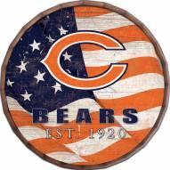 "Chicago Bears 24"" Flag Barrel Top"