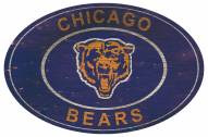 """Chicago Bears 46"""" Heritage Logo Oval Sign"""