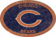 """Chicago Bears 46"""" Team Color Oval Sign"""