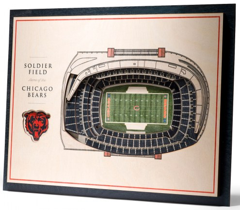 Chicago Bears 5-Layer StadiumViews 3D Wall Art