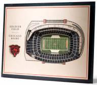Chicago Bears 5-Layer StadiumViews 3D Wall Art
