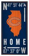 "Chicago Bears 6"" x 12"" Coordinates Sign"