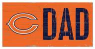 """Chicago Bears 6"""" x 12"""" Dad Sign"""