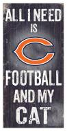 "Chicago Bears 6"" x 12"" Football & My Cat Sign"