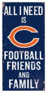 """Chicago Bears 6"""" x 12"""" Friends & Family Sign"""