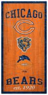 """Chicago Bears 6"""" x 12"""" Heritage Sign"""