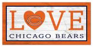 """Chicago Bears 6"""" x 12"""" Love Sign"""