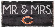 """Chicago Bears 6"""" x 12"""" Mr. & Mrs. Sign"""