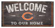 """Chicago Bears 6"""" x 12"""" Welcome Sign"""