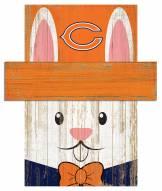 "Chicago Bears 6"" x 5"" Easter Bunny Head"