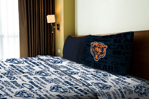 Chicago Bears Anthem Twin Bed Sheets