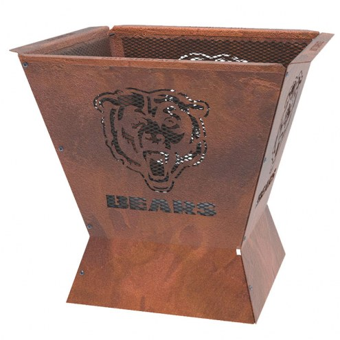"""Chicago Bears Badlands 29.5"""" Square Fire Pit"""
