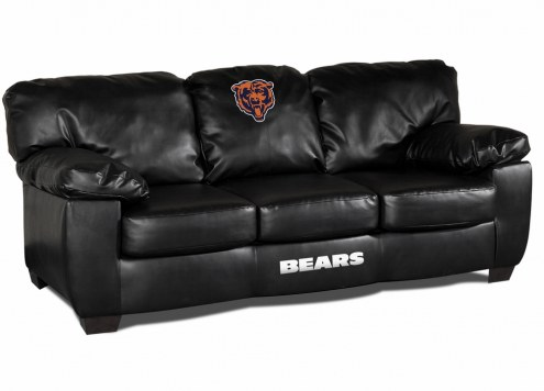 Chicago Bears Black Leather Classic Sofa