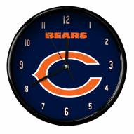Chicago Bears Black Rim Clock