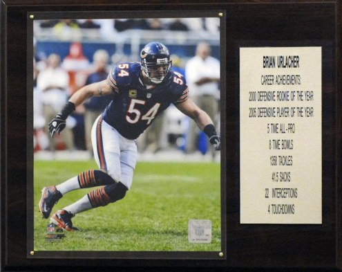 "Chicago Bears Brian Urlacher 12"" x 15"" Career Stat Plaque"